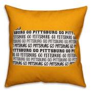 Yellow Pennsylvania Go Team 16x16 Spun Poly Pillow
