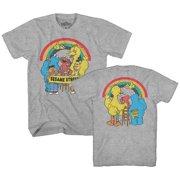d14eb279 Sesame Street Rainbow Oscar Elmo Cookie Big Bird Bert Ernie Classic Retro  Vintage Mens Adult T