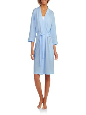 Women's and Women's Plus Light Weight Waffle Sleep Robe