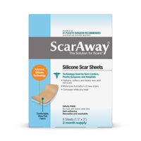 ScarAway Silicone Scar Sheets, 4 Reusable Sheets, 2 Month Supply