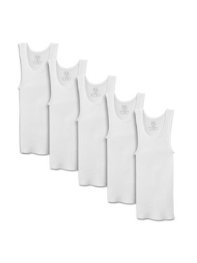 Classic White A-Shirts, 5 Pack (Little Boys & Big Boys)