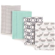 357fc81b9 Hudson Baby Boy and Girl Flannel Burp Cloths, 4-Pack - Whales