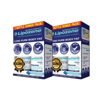 (2 Pack) Lipozene Amorphophallus Konjac Maximum Strength Weight Loss Pills, 60Ct
