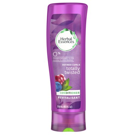 Herbal Hair Conditioner (Herbal Essences Totally Twisted Curly Hair Conditioner with Wild Berry Essences, 10.1 fl oz )