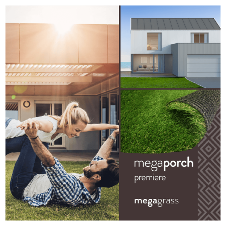 MegaGrass MegaPorch Premiere 20 x 59 in Artificial Grass for Pet Deck Balcony Indoor/Outdoor Area Rug ()