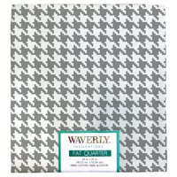"Waverly Inspiration Houndstooth Steel Fat Quarter 100% Cotton, Houndstooth Print Fabric, Quilting Fabric, Craft fabric, 18"" by 21"", 140 GSM"