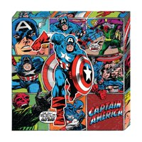 Marvel, Captain America, Retro Metallic Canvas