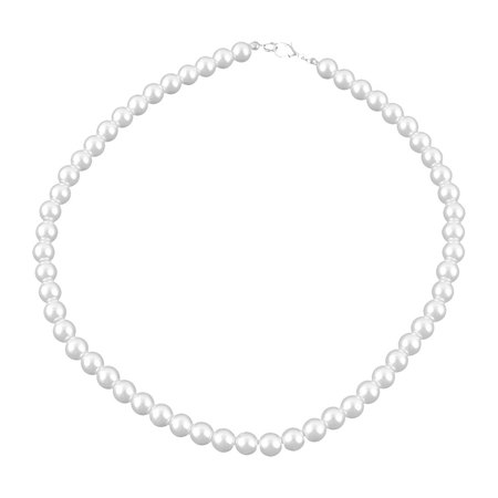 Metal Clasp Costume Fashion Faux Pearl Necklace Jewelry](Bridal Pearl Necklace)