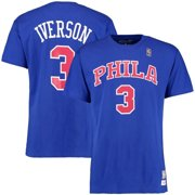 Allen Iverson Philadelphia 76ers Mitchell   Ness Hardwood Classics Retro  Name   Number T-Shirt 3d5d9bfaa