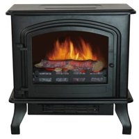 Bold Flame Infrared Electric Space Heater, Black