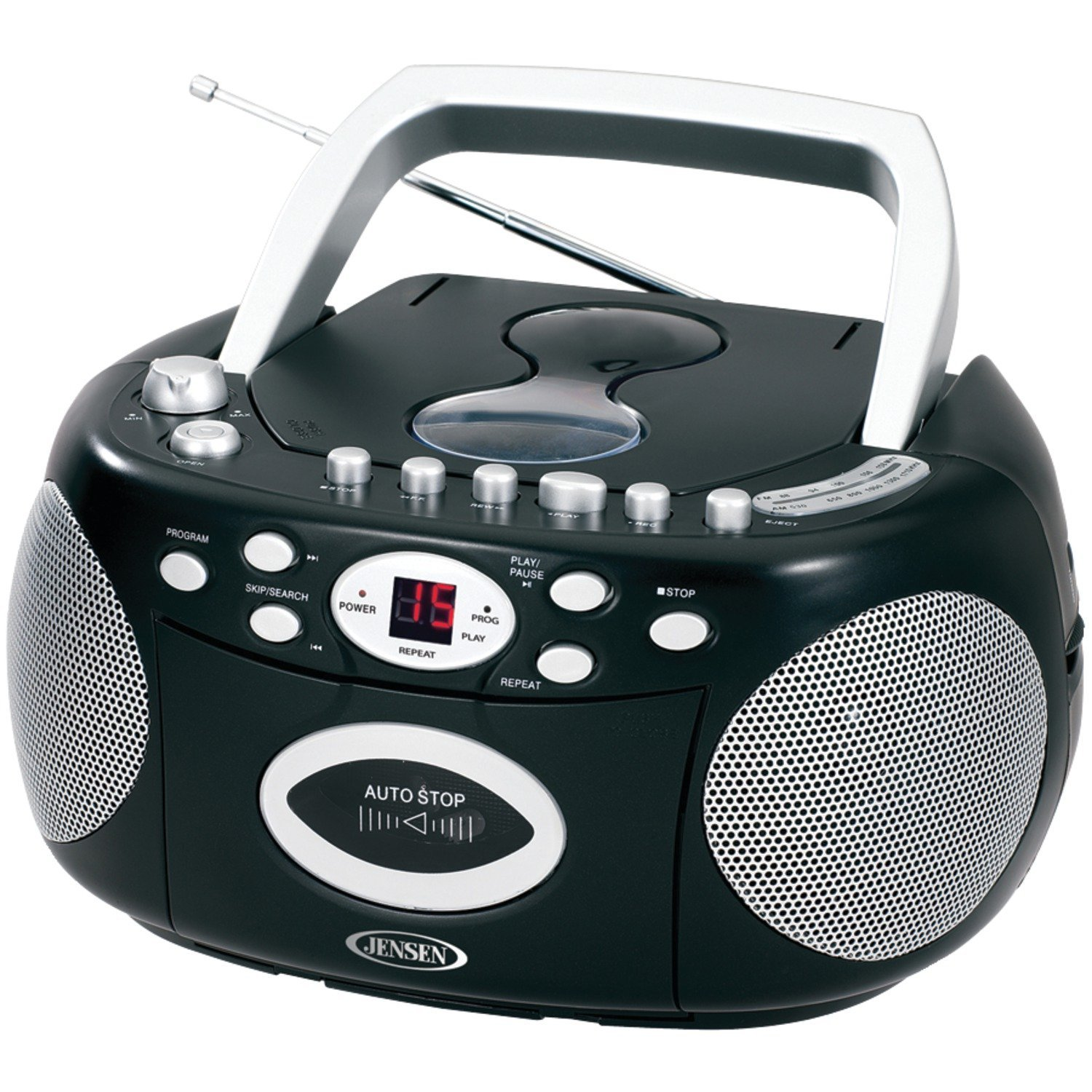 Jensen Portable Bluetooth Cd Player AM/FM Radio Tuner Mega Bass Reflex Stereo Sound System CD Players