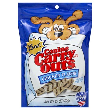 Canine Adult Chicken - Canine Carry Outs Chicken Flavor Dog Snacks, 25-Ounce Bag