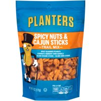 (2 Pack) Planters Spicy Nuts And Cajun Stick Trail Mix, 6 oz Pouch