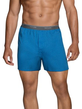 Men's Dual Defense Exposed Waistband Woven Boxers, 5 Pack