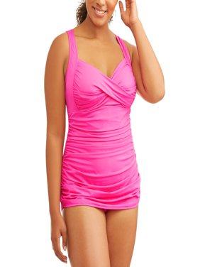 Women's Plus-Size Twist Bra Sheath Swimdress