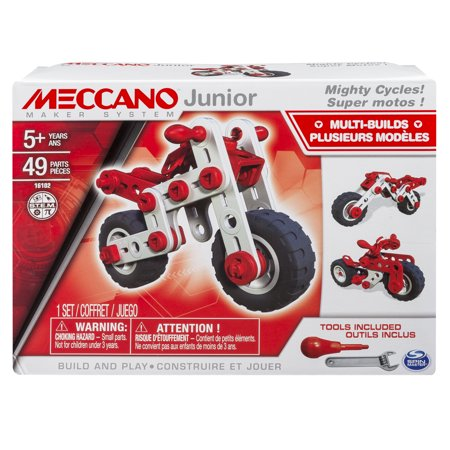 Meccano by Erector, Junior, 3 Model Building Kit, Mighty Cycles](Wood Building Kits)