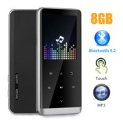 81e122bfa MP3 Player, 8GB MP3 Player with Bluetooth 4.2, Portable HiFi Lossless Sound  Music Player
