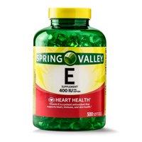 Spring Valley Vitamin E Supplement, 400IU, 500 Softgel Capsules