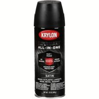 Krylon® Supermaxx® All-In-One Satin Black Spray Paint 12 oz. Aerosol Can