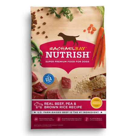 - Rachael Ray Nutrish Natural Dry Dog Food, Real Beef, Pea & Brown Rice Recipe, 14 lbs