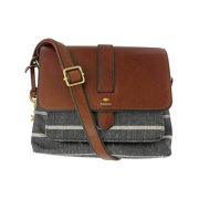 bae8d312e3 Fossil Women's Small Kinley Cross-Body Cotton Cross Body Bag - Chambray
