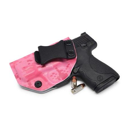 Concealment Express: Hot Pink Digital Camo KYDEX IWB Gun Holster (Left, S&W J-Frame 442/642)