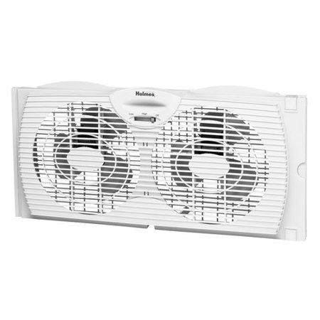 Holmes HAWF2021-WMUM Dual Blade Twin Window Fan - Outdoor Twin Turbo Fan