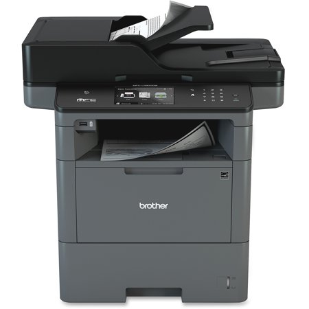 Brother Monochrome Laser Multifunction All-in-One Printer, MFC-L6800DW, Wireless Networking, Mobile Printing & Scanning, Duplex Print & Scan & Copy - Multi Function Printer Scanner