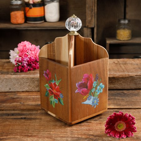 - The Pioneer Woman Spring Bouquet 4-Section Utensil Holder