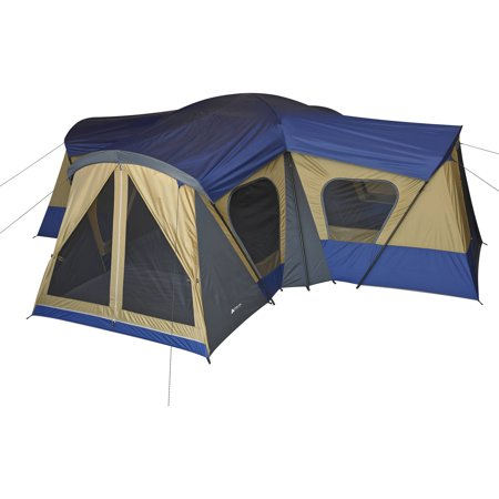 - Ozark Trail 14-Person 4-Room Base Camp Tent with 4 Entrances