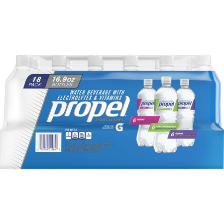 Propel Workout Water Variety Pack, 16.9 Fl. Oz., 18 Count (Encore Water)