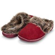 d9824eadbfc Floopi Womens Indoor Outdoor Aztec Two Tone Fur Lined Clog Slipper W Memory  Foam (
