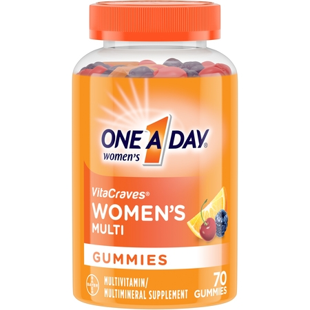 One A Day Women's VitaCraves Multivitamin Gummies, Supplement with Vitamins A, C, E, B6, B12, Calcium, and Vitamin D, 70