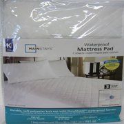 Mainstays Waterproof Fitted Polyester Mattress Pad (King)