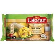 El Monterey® Signature Egg, Sausage, Cheese & Potato Burritos 12 ct Bag