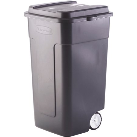 Rubbermaid 50 Gallon Wheeled Roughneck Trashcan Black Fg285100bla