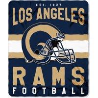 "NFL Los Angeles Rams ""Singular"" 50"" x 60"" Fleece Throw"