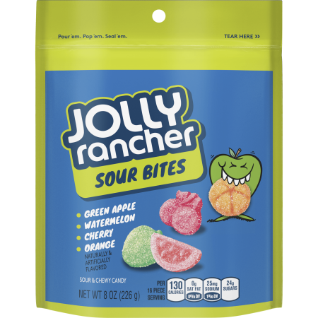 Jolly Rancher Bites Sour Candy, 8 Oz. - Sour Patch Halloween Candy