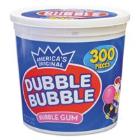 Dubble Bubble Bubble Gum, Original Pink, 300/Tub -TOO16403
