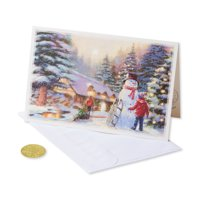 (14ct) American Greetings Premium Kids and Snowman Christmas Boxed Cards and Envelopes