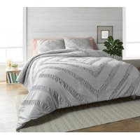 Better Homes and Gardens 3 Piece Ruched Diamond Comforter Bedding Set
