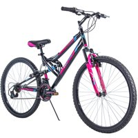 "Huffy 26"" Trail Runner Womens Mountain Bike, Black and Pink"