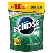 (2 Pack) Eclipse, Sugar Free Spearmint Chewing Gum, 180 Pcs