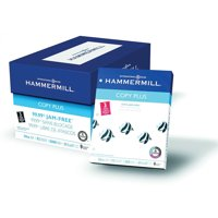 Hammermill Paper, Copy Plus, 20lb, 8.5 x 11, 3 Hole Punch, 92 Bright, 5000 Sheets / 10 Ream Case (105031C)