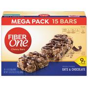 Fiber One Chewy Bar Oats and Chocolate 15 Fiber Bars Mega Pack 5.2 oz