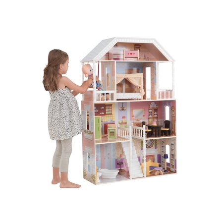 Kidkraft Savannah Dollhouse With 13 Accessories Included Walmart Com