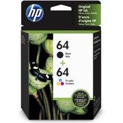 HP 64 Tri-Color/Black Ink Cartridge Combo, 2-Pack