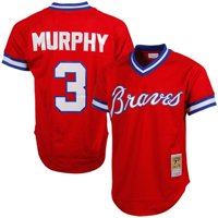 Dale Murphy Atlanta Braves Mitchell & Ness 1980 Authentic Cooperstown Collection Mesh Batting Practice Jersey - Red