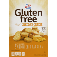 (2 Pack) Lance Gluten Free Cheddar Cheese Sandwich Crackers, 5 Oz
