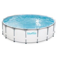 "Summer Waves Elite 16'x48"" Premium Frame Above Ground Swimming Pool with Filter Pump System"